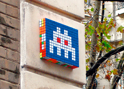 Space Invaders in città